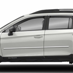 Subaru Outback Chrome Body Side Moldings, 2010, 2011, 2012, 2013, 2014, 2015, 2016, 2017, 2018