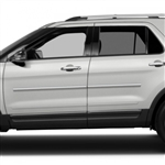 Ford Explorer Chrome Body Side Moldings, 2011, 2012, 2013, 2014, 2015, 2016, 2017, 2018