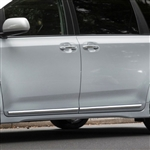 Toyota Sienna Lower Door Chrome Body Side Moldings, 2011, 2012, 2013, 2014, 2015, 2016, 2017, 2018