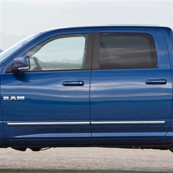 Dodge Ram Chrome Body Side Moldings, 2009, 2010, 2011, 2012, 2013, 2014, 2015, 2016, 2017, 2018