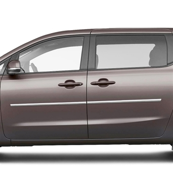 Kia Sedona Chrome Body Side Moldings, 2015, 2016