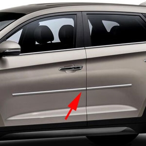 Hyundai Tucson Chrome Body Side Moldings, 2016, 2017, 2018