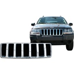 Jeep Grand Cherokee Laredo Chrome Grille Overlay, 2004
