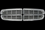 Dodge Dakota Chrome Grille Overlay, 4pc  1997 - 2003
