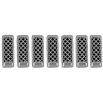 Jeep Patriot Chrome Grille Overlay, 2011, 2012, 2013, 2014, 2015, 2016, 2017