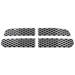 Dodge Ram 1500 Chrome Grille Overlay, 2013, 2014, 2015