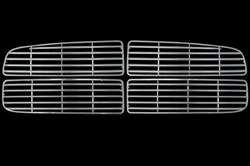 Dodge Ram 1500, 2500 Chrome Grille Overlay, 4pc  2002 - 2005