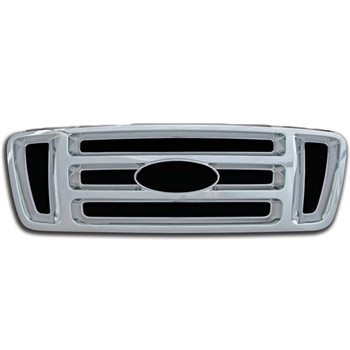 Ford F-150 XL, STX, FX4 Chrome Grille Overlay, 2004 - 2008