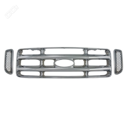 Ford Super Duty Chrome Grille Overlay, 3pc  1999 - 2004