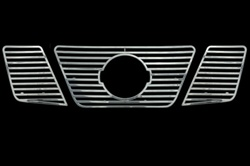 Nissan Pathfinder Chrome Grille Overlay, 3pc. Set, 2005, 2006, 2007