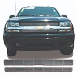 Chevrolet Trailblazer Chrome Grille Overlay, 2pc  2002 - 2005