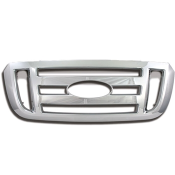 Ford Ranger (XL, FX4) Chrome Grille Overlay, 2006 - 2011