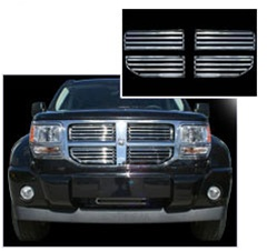 Dodge Nitro Chrome Grille Overlay, 4pc  2007 - 2012