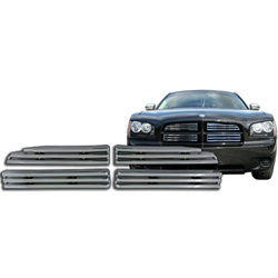 Dodge Charger Chrome Grille Overlay, 4pc  2006 - 2010