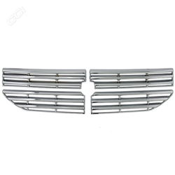 Dodge Caliber Chrome Grille Overlay, 4pc  2007 - 2012