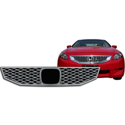 Honda Accord Coupe Chrome Grille Overlay, 2008 - 2010
