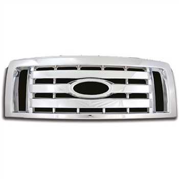 Ford F150 (XL, STX, FX4) Chrome Grille Overlay, 2009 - 2012