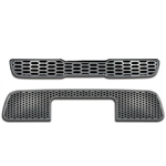 Kia Soul Chrome Grille Overlay, 2pc  2010 - 2011