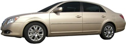 Toyota Avalon Painted Body Side Moldings with Chrome Inserts, 2005, 2006, 2007, 2008, 2009, 2010, 2011, 2012
