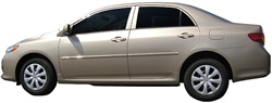 Toyota Corolla Painted Body Side Moldings with chrome inserts, 2009, 2010, 2011, 2012, 2013