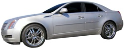 Cadillac CTS Sedan Painted Body Side Molding with chrome insert, 2008, 2009, 2010, 2011, 2012, 2013