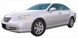 Lexus ES350 Painted Body Side Moldings with chrome inserts, 2007, 2008, 2009, 2010, 2011, 2012