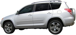 Toyota Rav4 Painted Body Side Molding with Chrome Inserts, 2006, 2007, 2008, 2009, 2010, 2011, 2012