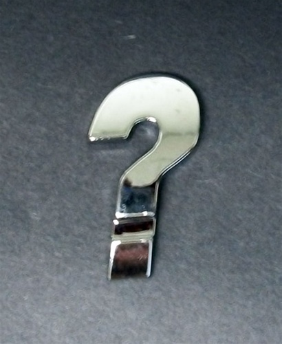 Premium 3d Chrome Individual Letters Amp Numbers Question Mark