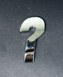 Premium 3D Chrome Individual Letters & Numbers - Question Mark