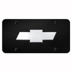 Chevrolet Logo License Plate - Black and Chrome or Gold