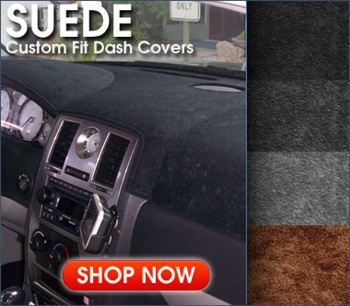 Suede Aftermarket Dash & Rear Deck Covers- Gray, Beige, Black & more