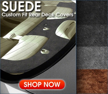 Suede Aftermarket Rear Deck Covers- Gray, Beige, Black & more