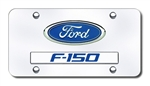 Ford F150 Dual Logo Chrome License Plate