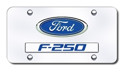 Chrome License Plate - Ford F250