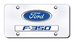 Chrome License Plate - Ford F350