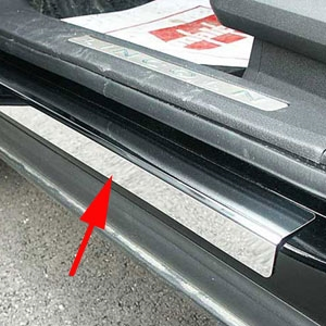 Lincoln MKX Stainless Steel Door Sill Trim, 2007, 2008, 2009, 2010, 2011, 2012, 2013, 2014, 2015