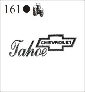 Katzkin Embroidery - Chevy logo with Tahoe script
