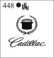 Katzkin Embroidery - Cadillac Logo with script (old), EMB-448