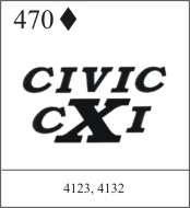 Katzkin Embroidery - Civic cXi
