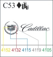 Katzkin Embroidery - Cadillac Logo with script (multi-color), EMB-C53