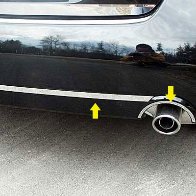 Nissan Altima Sedan Stainless Steel Rear Bumper Exhaust