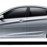 Hyundai Accent Painted Body Side Moldings, 2012, 2013, 2014, 2015, 2016, 2017