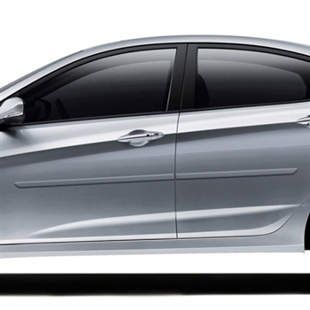 Hyundai Accent Painted Body Side Moldings, 2012, 2013, 2014, 2015, 2016