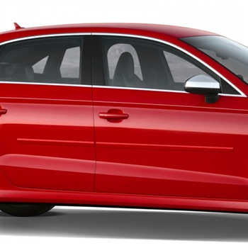Audi A3 Painted Body Side Molding, 2011, 2012, 2013, 2014, 2015, 2016, 2017, 2018