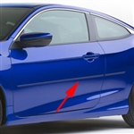 Honda Civic Coupe Painted Body Side Moldings, 2016, 2017, 2018