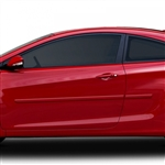 Hyundai Elantra Coupe Painted Body Side Molding,  2013, 2014