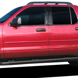 Ford Explorer Sport Trac Painted Body Side Moldings, 2007, 2008, 2009, 2010