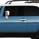 Toyota FJ Cruiser Painted Body Side Moldings, 2007, 2008, 2009, 2010, 2011, 2012, 2013, 2014