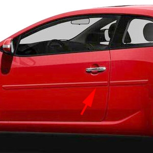 Kia Forte Koup Painted Body Side Moldings, 2010, 2011, 2012, 2013
