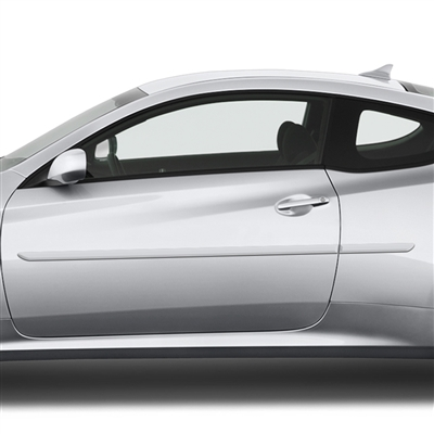 Hyundai Genesis Coupe Painted Body Side Moldings, 2010, 2011, 2012, 2013, 2014, 2015, 2016